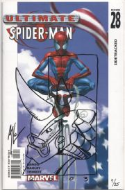 Ultimate Spider-man #28 Signed Art Thibert Rhino Sketch COA Ltd 25 Jay Company Originals